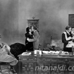 Goofing on the set:  Nita, Casson Ferguson, Rudolph Valentino, Gertrude Olmstead
